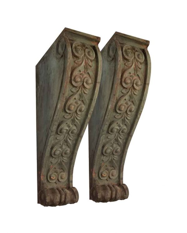 Corbels - Pair of Copper Corbels from Prestigious NYC Building