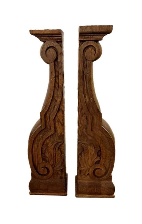 Corbels - Pair of Oak Corbels from Rose Hill Mansion