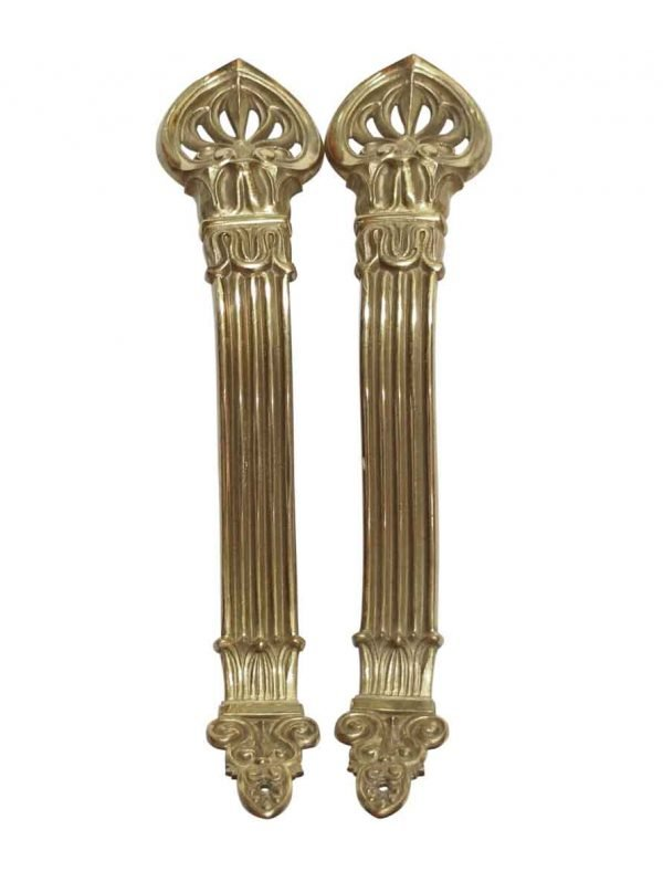 Curtain Hardware - Pair of Victorian Bronze Curtain Rod Brackets