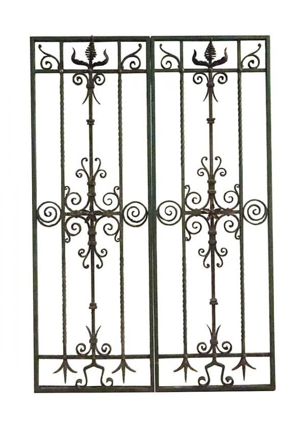 Decorative Metal - Pair of 19th Century Wrought Iron Panels from Belgium