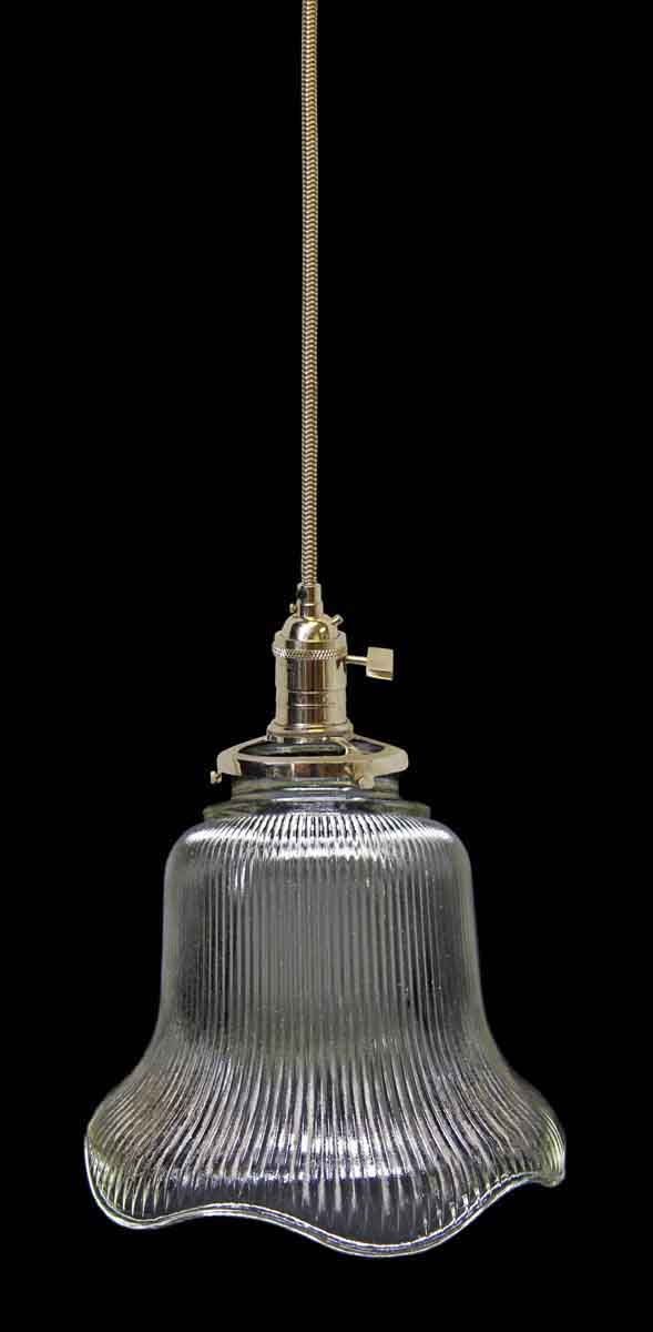 Down Lights - Custom Clear 5.875 in. Holophane Pendant Light