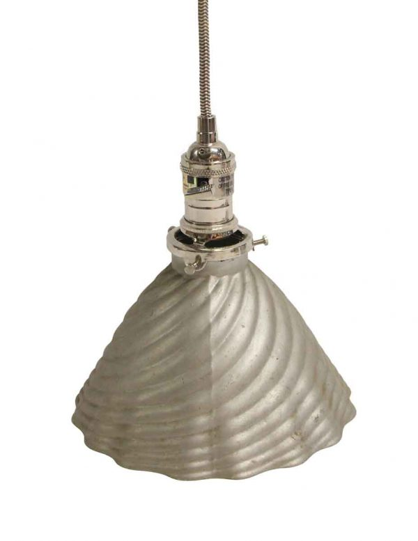 Down Lights - Industrial Mercury Glass Silver Pendant Light