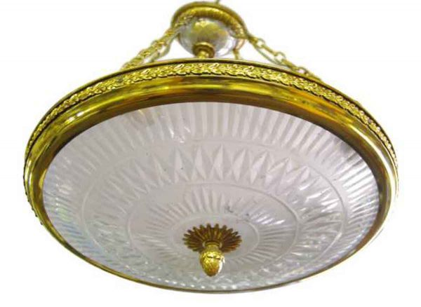 Down Lights - Victorian Cut Crystal Dish Pendant Light