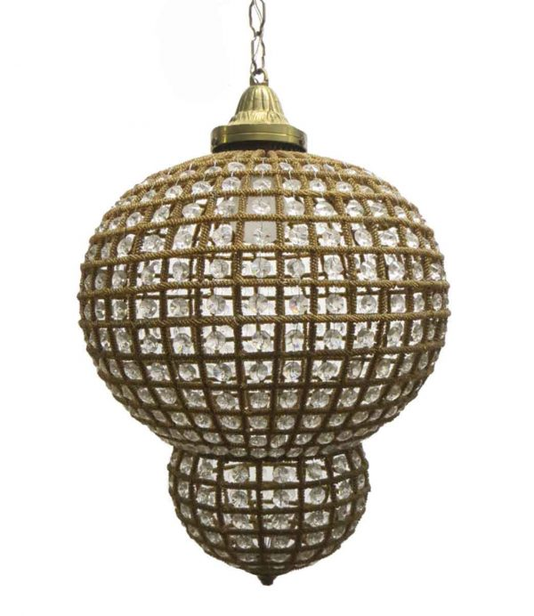 Down Lights - Vintage Crystal Moroccan Style Pendant Light
