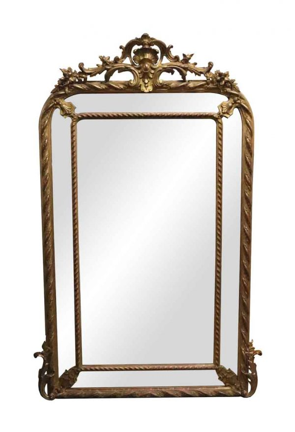 Overmantels & Mirrors - Antique French Wall Mirror