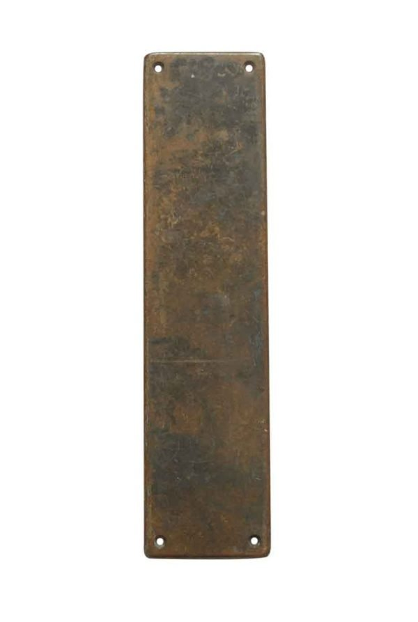 Push Plates - Yale & Towne Bronze 14 in. Door Push Plate
