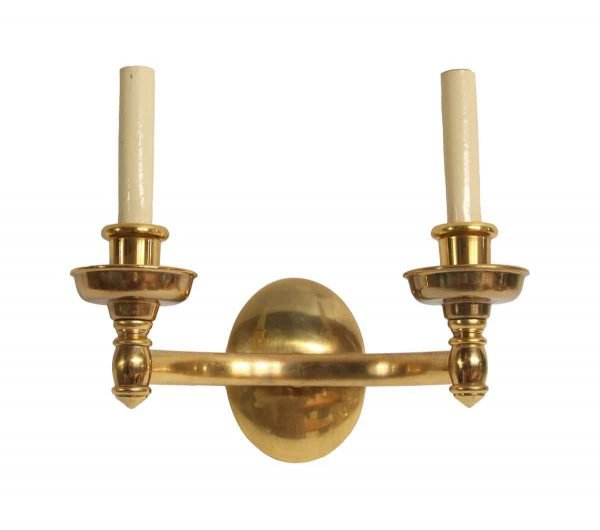 Sconces & Wall Lighting - Federal Style Double Arm Cast Copper Finish Brass Wall Sconce