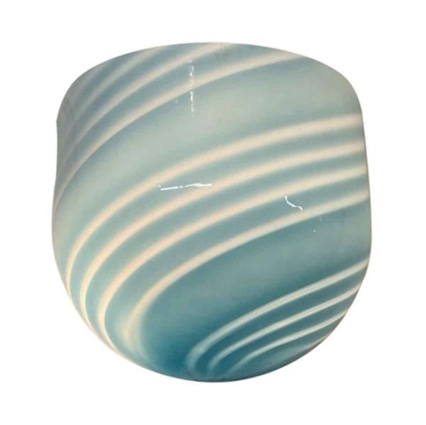 Sconces & Wall Lighting - Modern Striped Blue Murano Glass Wall Sconce