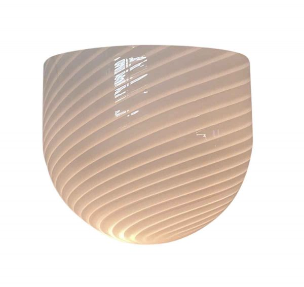 Sconces & Wall Lighting - Modern White Striped Murano Glass Wall Sconce