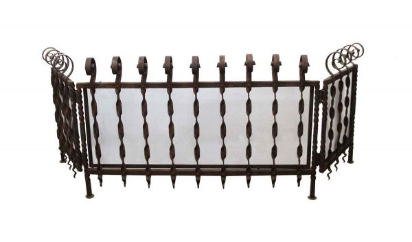 Screens & Covers - 19th Century Wrought Iron Fireplace Screen