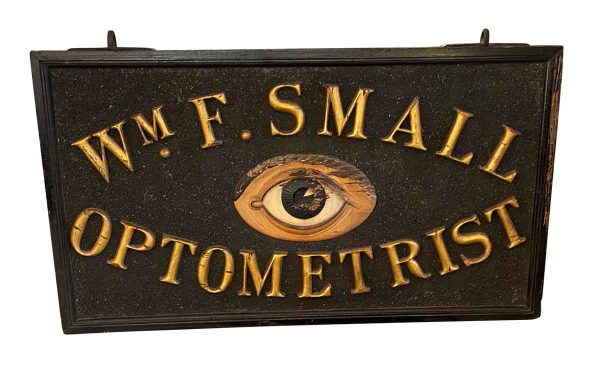 Vintage Signs - Early 20th Century Optometrist Sign