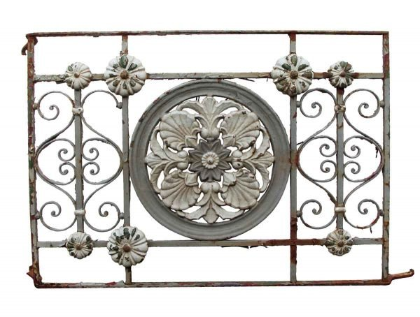 Balconies & Window Guards - Antique Floral Wrought Iron 3 ft Balcony