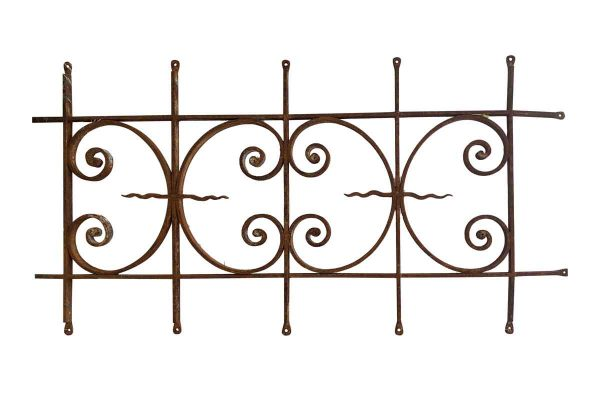 Balconies & Window Guards - Antique Wrought Iron 4 ft Window Guard