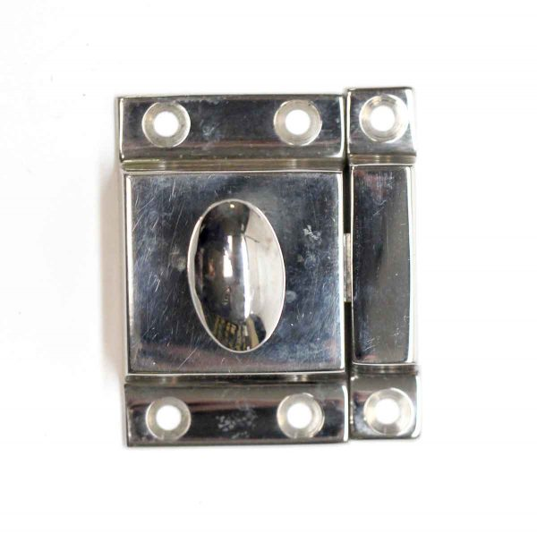 Cabinet & Furniture Latches - Vintage Chrome Plated Brass Cabinet Latch