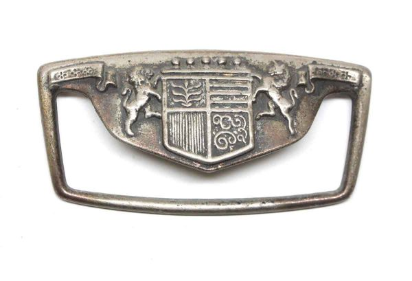 Cabinet & Furniture Pulls - Coat of Arms Nickel Plated 4.75 in. Brass Drawer Pull