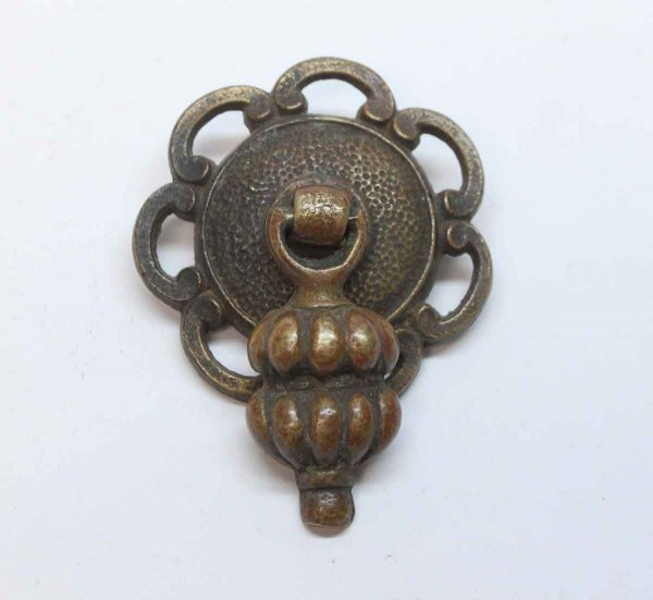 Cabinet & Furniture Pulls - Traditional Cast Brass Drawer Drop Pull