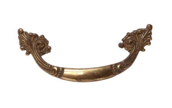 Cabinet & Furniture Pulls - Vintage Brass French 3.75 in. Drawer Pull