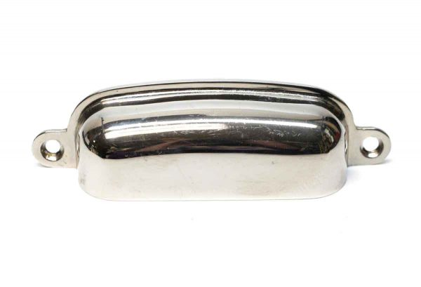 Cabinet & Furniture Pulls - Vintage Classic Chrome Plated 4 in. Brass Bin Pull