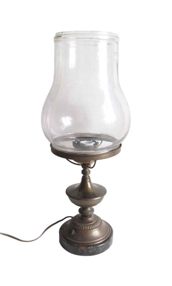 Candelabra Lamps - Antique Dietz Gas Converted to Electric Table Lamp