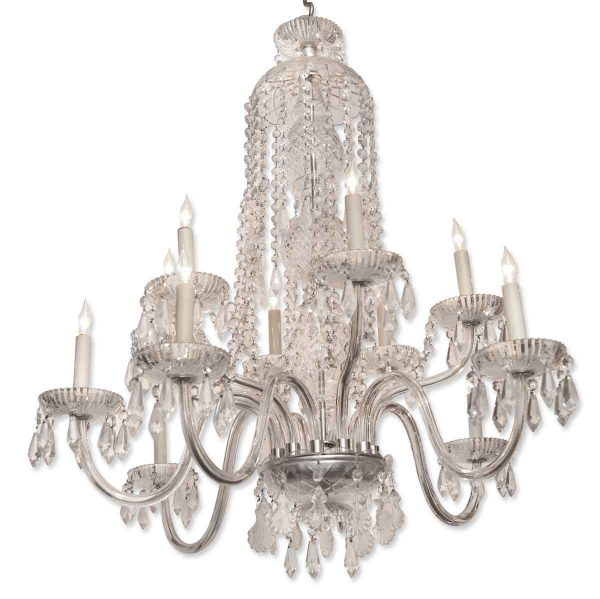 Chandeliers - Victorian Beaux Arts Crystal Chandelier from the Plaza Hotel