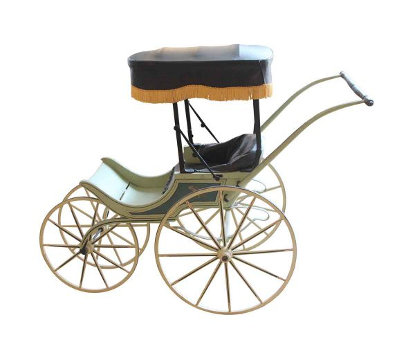 Children's Items - Vintage Baby Carriage with Painted Details