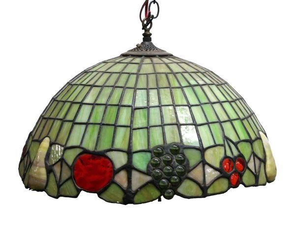 Leaded Stained Glass Tiffany Style Green Pendant Light