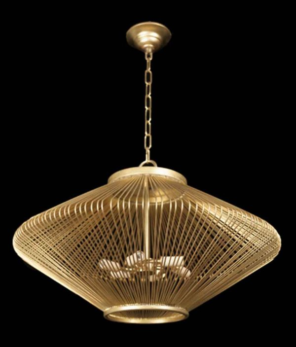 Mid Century Modern Diamond Shaped Cage Pendant Light
