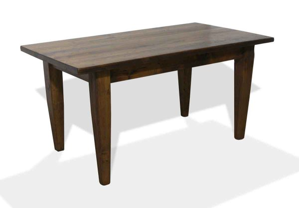 Custom Reclaimed Provincial Pine Farm Table with Tapered Legs
