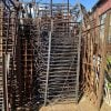 Railings & Posts - 1900s Black Wrought Iron 40 ft Fence Lot