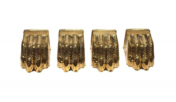 Other Cabinet Hardware - Set of Furniture Brass Claw Feet Covers
