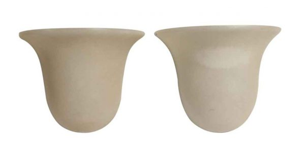 Sconces & Wall Lighting - Pair of Modern Alabaster Tan Wall Sconces