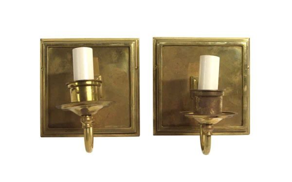 Sconces & Wall Lighting - Pair of Traditional Single Arm of Brass Wall Sconces