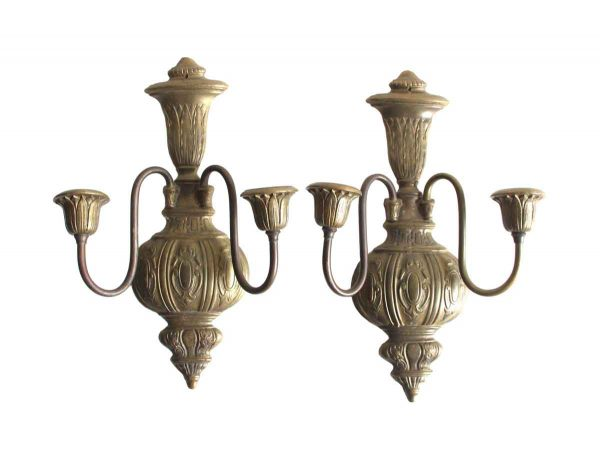 Sconces & Wall Lighting - Williamsburg Colonial Cast Brass Wall Sconces