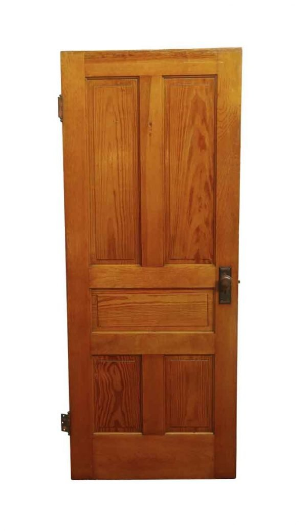 Standard Doors - Antique 5 Pane Yellow Pine Passage Door 79.5 x 31.875