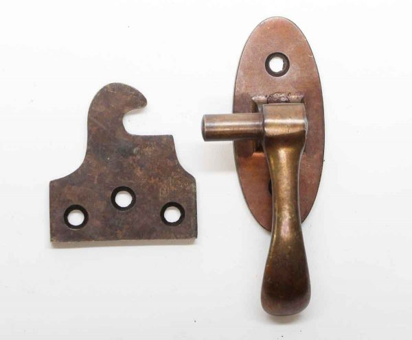 Cabinet & Furniture Latches - Vintage Copper Over Bronze Right Hand Latch