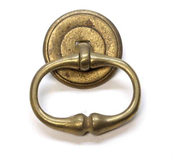 Cabinet & Furniture Pulls - Traditional Brass Drawer Ring Pull with Rosette