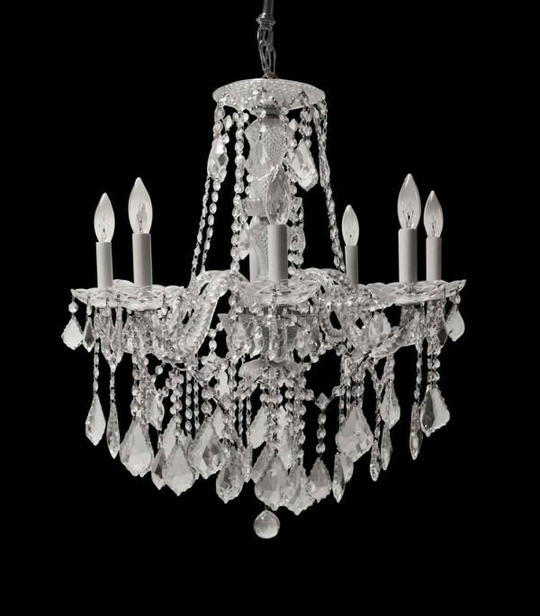 Chandeliers - Crystal 8 Arm Chandelier from Upper East Side Manhattan