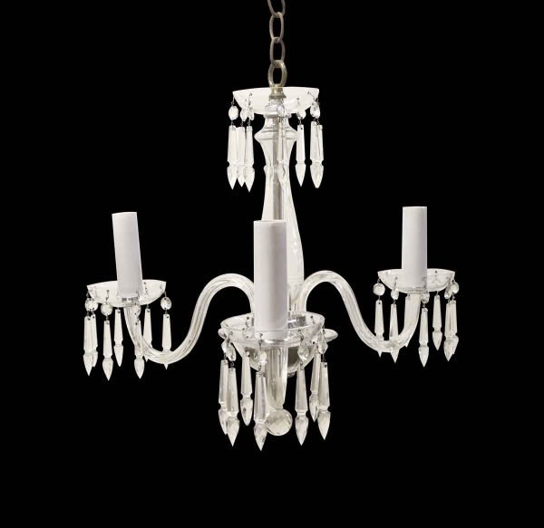 Chandeliers - Traditional Petite 3 Arm Clear Crystal Chandelier