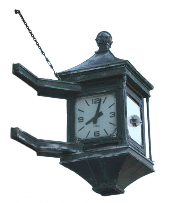 Clocks  - Architectural Copper Bank Clock from the State of New Jersey