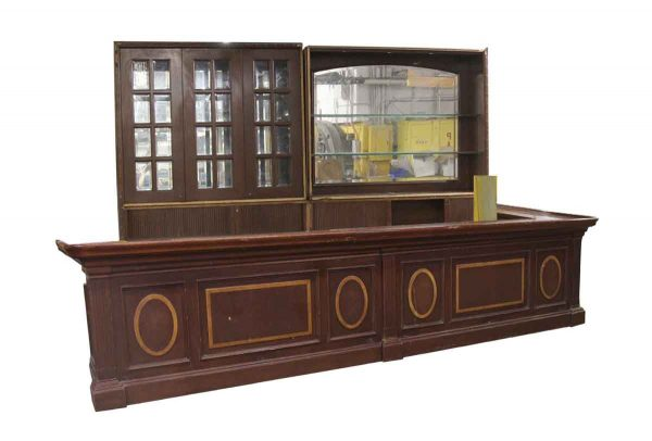 Commercial Furniture - Salvaged 16 ft Manhattan Bar with Back Bar