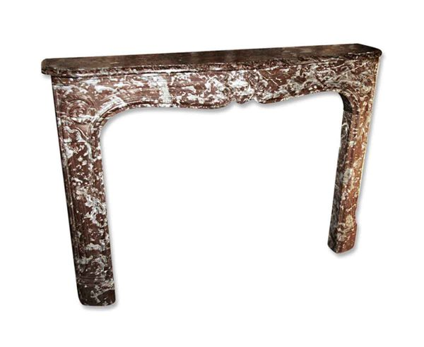 Danny Alessandro Mantels - 18th Century Louis XV Rouge Royale Brown Marble Mantel
