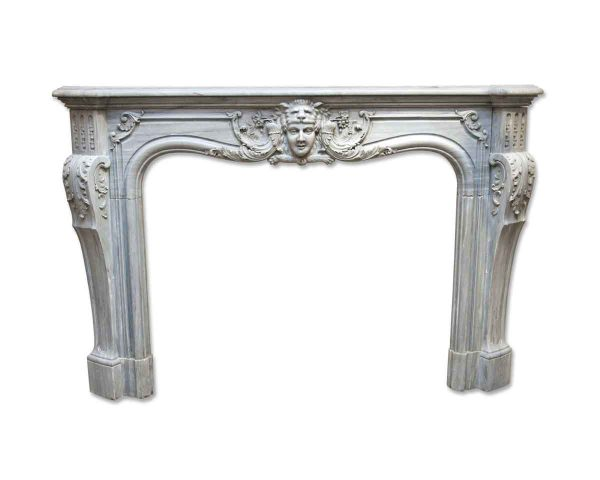 Danny Alessandro Mantels - 19th Century Louis XIV Style Gray Marble Mantel