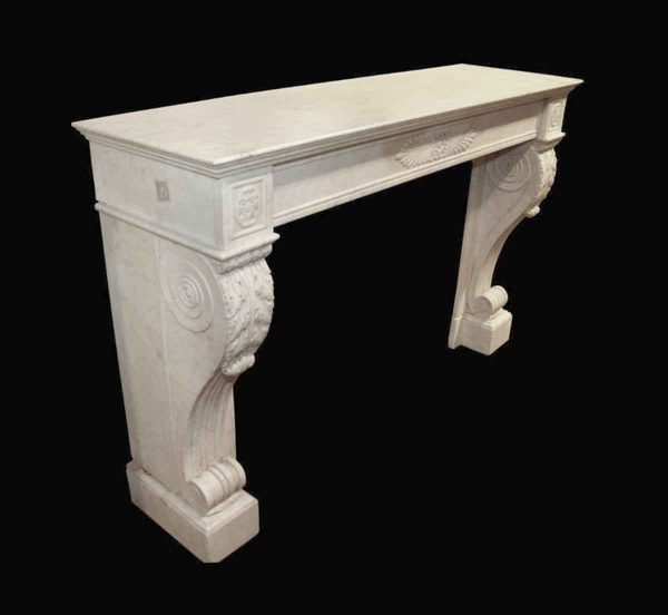 Danny Alessandro Mantels - Antique French Empire Style Marble Mantel