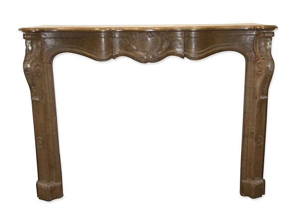 Danny Alessandro Mantels - Antique Hand Carved Oak French Provincial Mantel