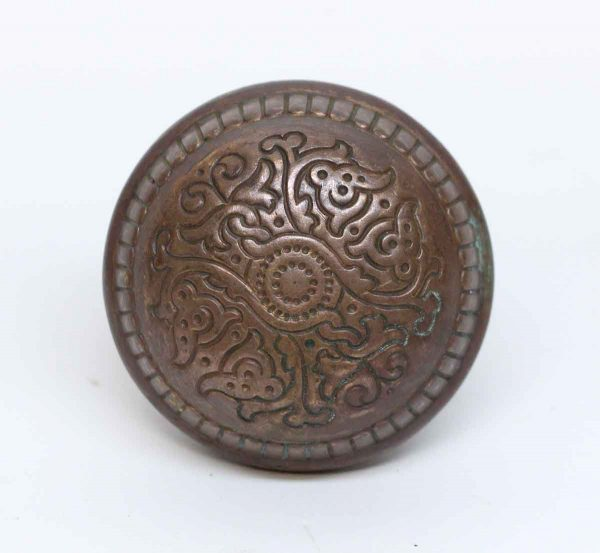 Door Knobs - Antique Russell & Erwin Villa Bronze & Cast Iron Door Knob