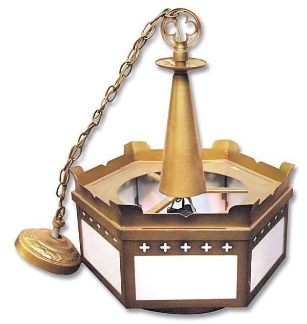Drums - Vintage Hexagonal Cross Detailed Church Pendant Light