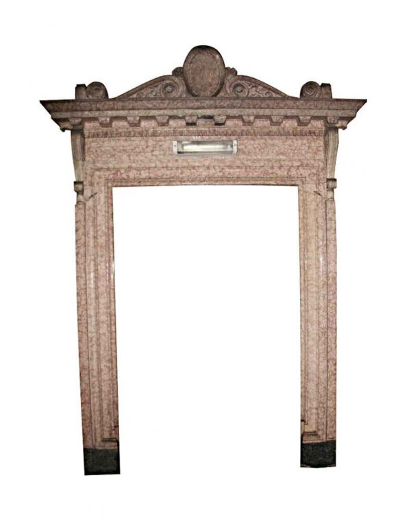 Famous Building Artifacts - Antique 1920s Coney Island NY Rose Marble Door Surround