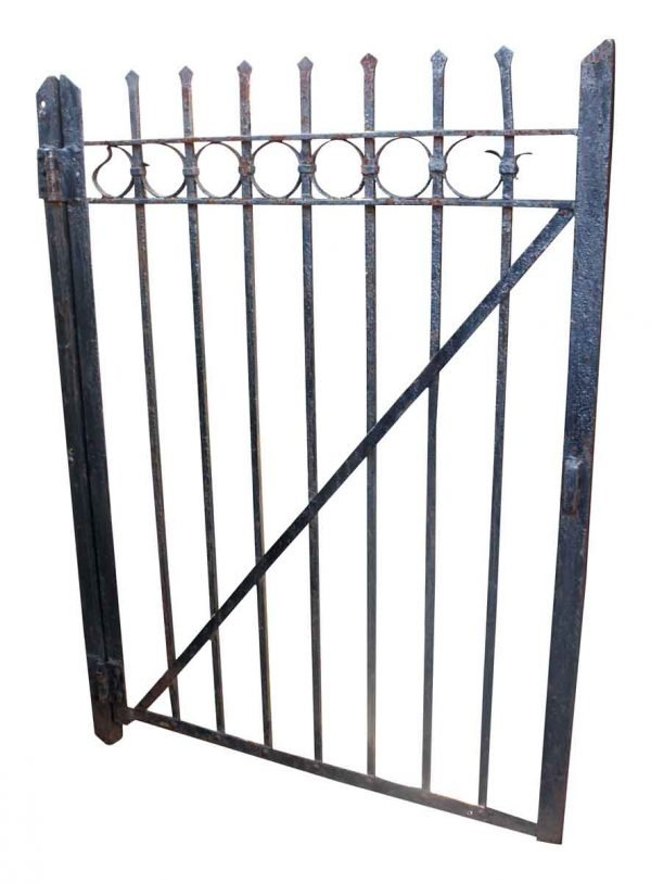 Gates - Salvaged Wrought Iron Gate with Circle Design