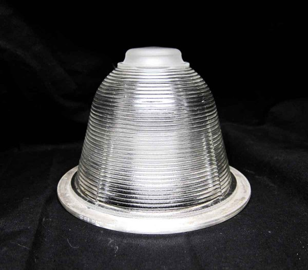 Globes & Shades - Antique 6.375 in. Industrial Holophane Prism Glass Shade