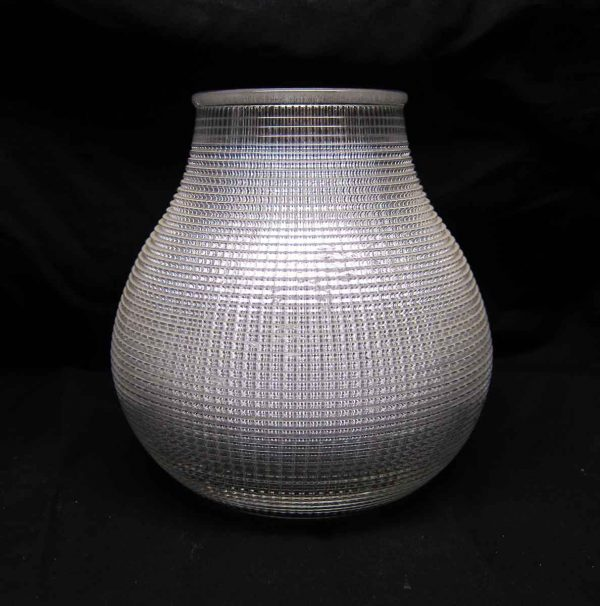 Globes & Shades - Rare Hourglass Holophane Replacement Lamp Glass